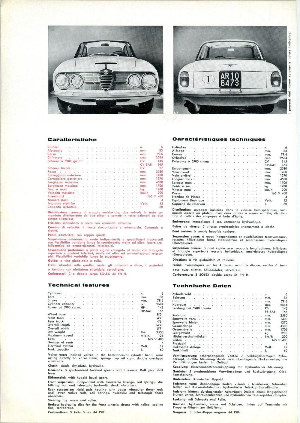 Alfa Romeo 2600 Sprint B