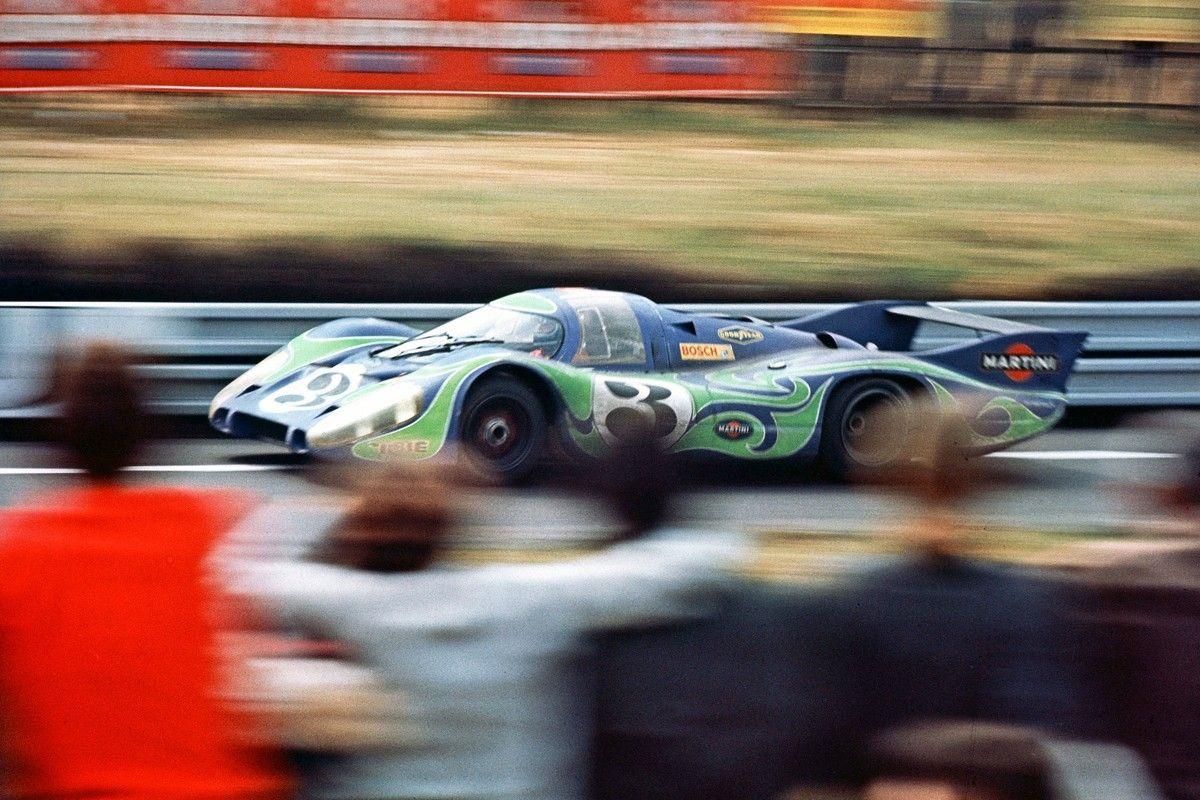 PORSCHE_Segundo absoluto en las 24 Horas de Le Mans 1970, el 917 cola larga Martini psicodÇlico