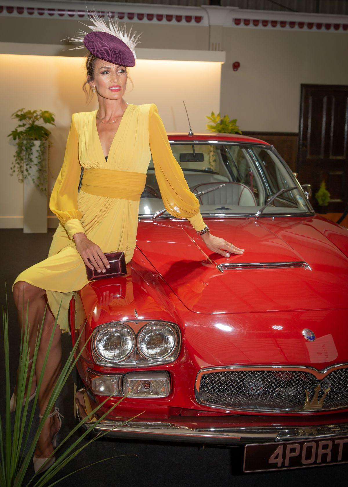 Maserati at Goodwood Revival - Nieves Alvarez at Earl's Court Motor Show