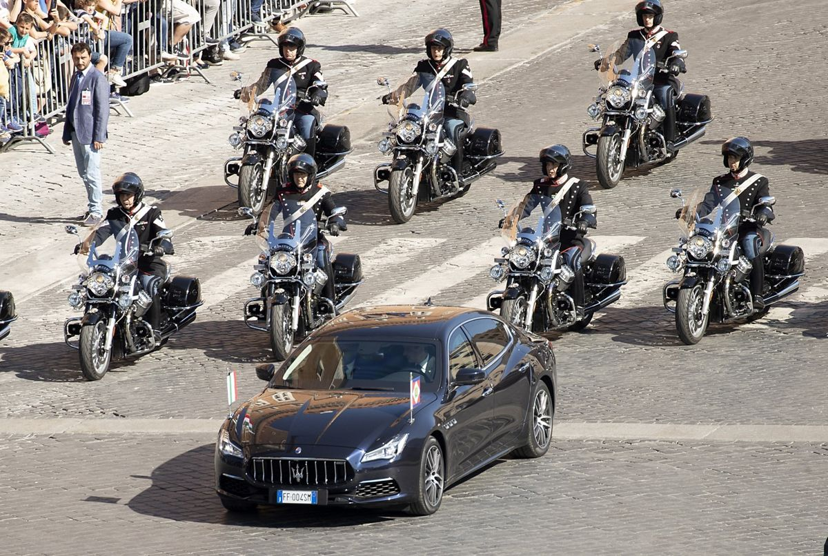 Maserati Quattroporte 6th generation - Italian President Sergio Mattarella - Republic Day - 2 June 2019_01