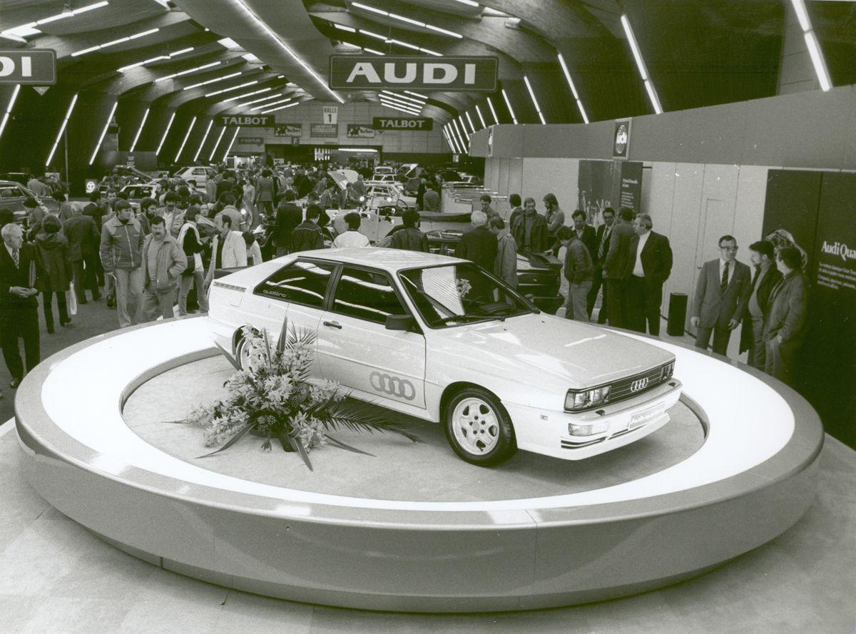 Presented at Automobilsalon in Geneva 1980: The Audi quattro