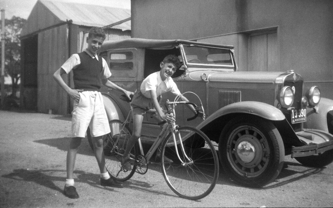 La bici Bianchi y el Chevrolet
