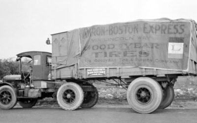 Los camiones pioneros en el uso de neumáticos con aire