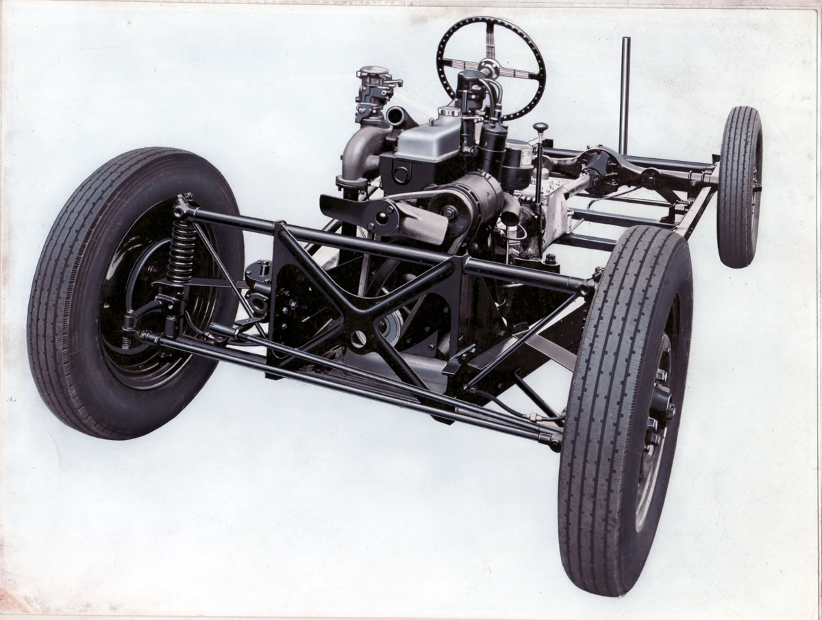 1930sarchivedrawingofsteelchassisandslidingpillarsuspension