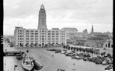 Transportes en las primeras épocas del Edificio de Aduanas de Montevideo
