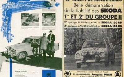 Skoda y sus 85 años de éxitos en el Rally Montecarlo