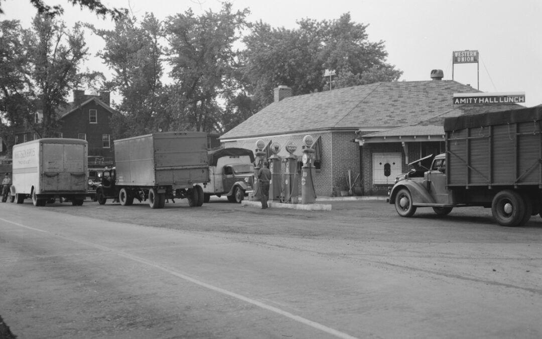 Un parador rutero en EE.UU. en los años 30